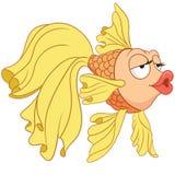 Cartoon colorful goldfish gold fish. Cartoon colorful childish goldfish character. gold fish sea ocean animal print Royalty Free Stock Photos