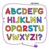 Cartoon Colorful Doodle Alphabet Royalty Free Stock Photos