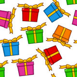 Cartoon Colorful Gifts Seamless Pattern Royalty Free Stock Images
