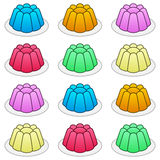 Cartoon Colorful Jelly Seamless Pattern Stock Photo