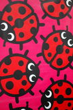 Cartoon colorful ladybugs. And dots Royalty Free Stock Photo
