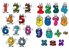 Cartoon colorful numbers and digits Royalty Free Stock Photo