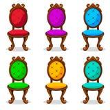 Cartoon colorful Retro chair royalty free illustration