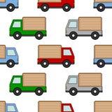 Cartoon Colorful Van Seamless Pattern Στοκ φωτογραφία με δικαίωμα ελεύθερης χρήσης