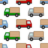 Cartoon Colorful Van Seamless Pattern Royalty Free Stock Photo