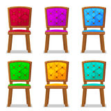 Cartoon colorful wooden chair stock illustration