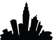 Cartoon Columbus. Cartoon skyline silhouette of the city of Columbus, Ohio, USA Stock Photo