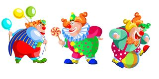 Cartoon Comedy Clown Collection Royalty Free Stock Photography