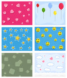 Cartoon Comic Backgrounds. Comic Cartoon Design Backgrounds Vector Illustration Set Royalty Free Stock Images
