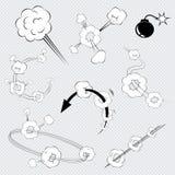 Cartoon comic book explosions vector illustration