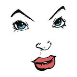 Cartoon comic book face Stock Photos
