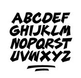 Cartoon comic doodle font alphabet. Vector Stock Image