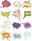 Cartoon comic speech icon Stock Photo