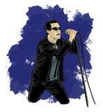 Cartoon - Comic Style Singer Stock Photography