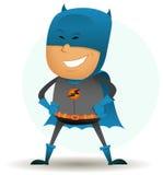 Cartoon-comic-super-hero-six royalty free illustration