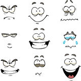 Cartoon comics face Stock Photography