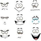 Cartoon comics face Stock Photography