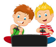 Cartoon competition game Stock Image