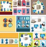 Cartoon computer card Stock Photo
