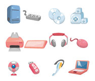 Cartoon computer icon Stock Photos