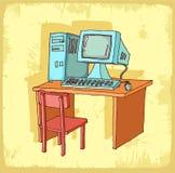 Cartoon computer illustration, vector icon. Stock Image