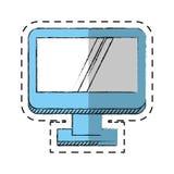 Cartoon computer screen device technology Stock Image