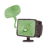 Cartoon computer screen with speech bubble Royalty Free Stock Image