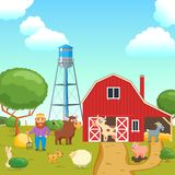Cartoon agricultural concept 03 stock illustration