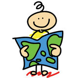 Cartoon concept boy explorer Stock Image
