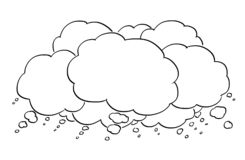 Cartoon Drawing of Empty Text or Speech Bubbles or Balloons stock illustration