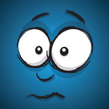 Cartoon concerned face Stock Images