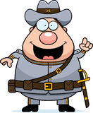 Cartoon Confederate Soldier Idea Royalty Free Stock Photography
