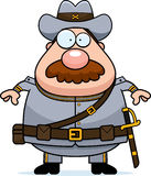 Cartoon Confederate Soldier Mustache Royalty Free Stock Images