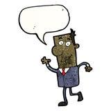 Cartoon confident business guy Stock Image