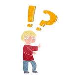 Cartoon confused boy Royalty Free Stock Images