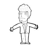 Cartoon confused man Royalty Free Stock Photo