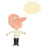 Cartoon confused middle aged man with thought bubble Royalty Free Stock Photo