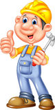 Cartoon Construction worker repairman. Illustration of Cartoon Construction worker repairman Royalty Free Stock Photos