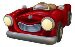 Cartoon convertible car Stock Photography