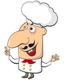 Cartoon cook Stock Photography