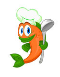 Cartoon cook fish Stock Photo