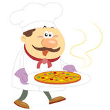 Cartoon cook with white background Stock Image