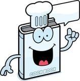Cartoon Cookbook Talking Stock Photo