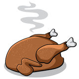 Cartoon cooked turkey isolated on white. NEPS 10 vector illustration Stock Image