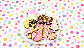 Cartoon cookies Stock Photography