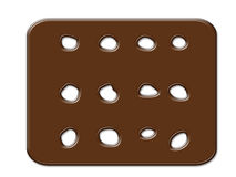 Cartoon cookies chocolate frame isolated on white Royalty Free Stock Photos