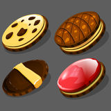 Cartoon cookies. Vector illustration. Royalty Free Stock Images