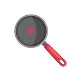 Cartoon cooking pan vector illustration. Stock Image