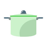 Cartoon cooking pan vector illustration. Royalty Free Stock Image