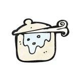 cartoon cooking pot Royalty Free Stock Image